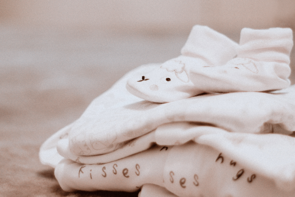 White baby clothes