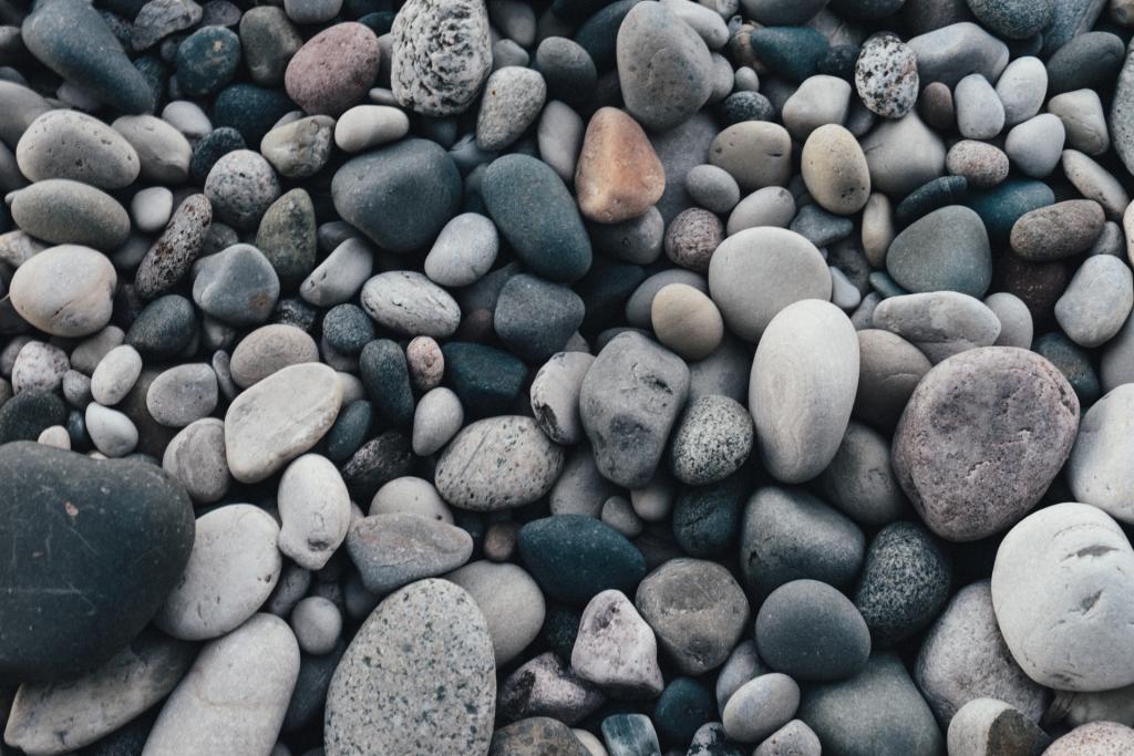 Close up image beach rocks