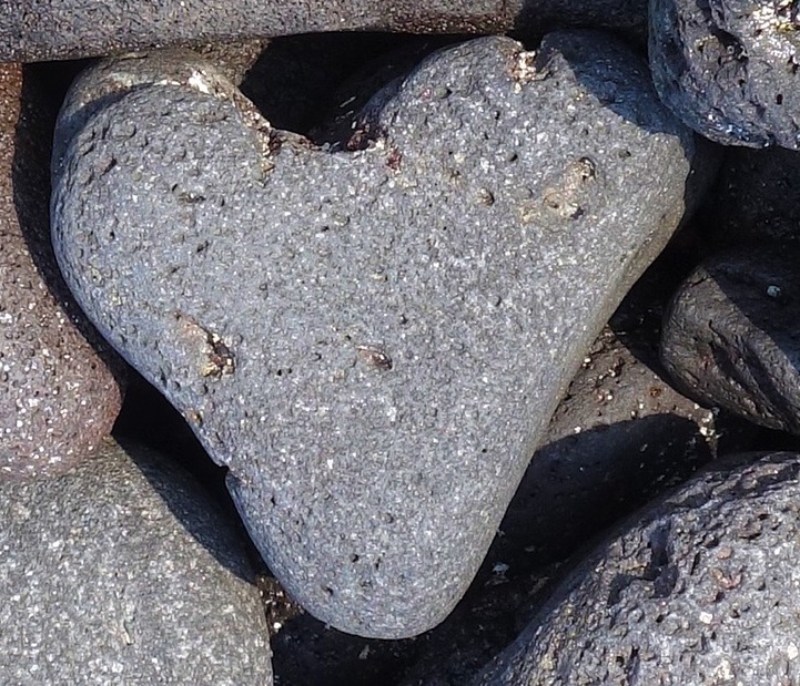 Close up image of heart rock