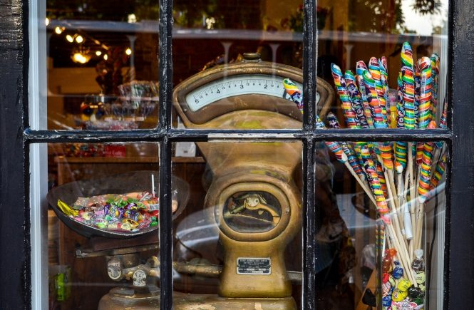 Candy store storefront