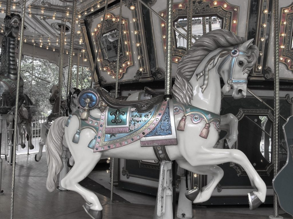 Carousel light pastel colors